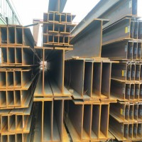 成都批发供应各大钢厂热轧国标h钢Q235B马钢h型钢H钢立柱钢梁图片