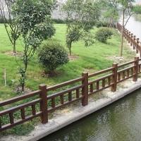 仿木栏杆-木塑材料-仿石栏杆-塑木材料-塑木地板-仿木护栏