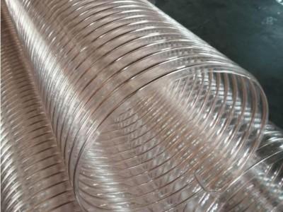 镀铜除尘耐磨PU钢丝伸缩管抽吸锯末刨花增强钢丝管厂家