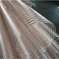鍍銅除塵耐磨PU鋼絲伸縮管抽吸鋸末刨花增強鋼絲管廠家圖片