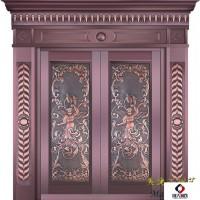 上海老品牌美捷尔铜艺—豪华别墅铜门、工程铜门