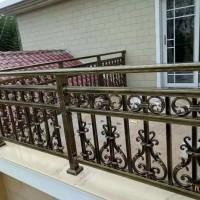 成都武侯区家装铝艺大门铝艺栏杆图片
