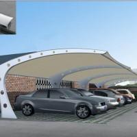 新品车棚景观棚膜结构棚 展览中心钢及合金结构钢Q195图片