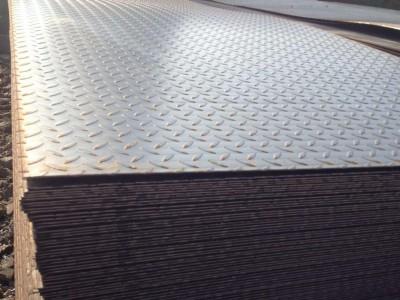 q235b花纹钢板 防滑扁豆型花纹钢板 4.75*1250