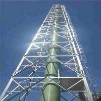 烟囱塔 油田化工烟筒塔架 热镀锌烟筒塔架 欢迎来电咨询图片