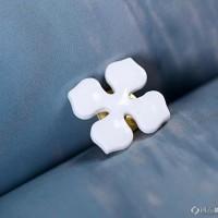 景德镇创意纯白手工雪花 海鸥手制陶瓷胸针 毛衣胸针