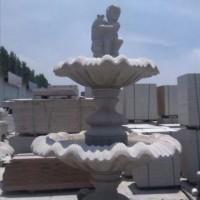 大理石石雕喷泉黄锈石五莲红喷泉石雕厂家制作精美石雕艺术 大理石喷泉
