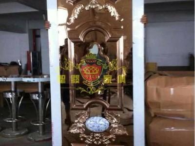 贵阳KTV会所包厢门不锈钢玫瑰金隔音门BXM-012
