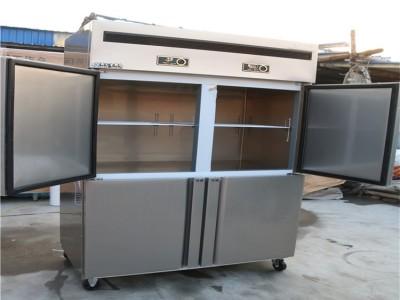 四门冰箱商用冷柜双温四门冷柜厨房六门冷柜商用冷柜四开门冷柜立式大容量厨房冷柜冰柜保鲜冷冻两用