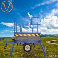 星汉机械 二轮升降机 18米升降 汽车牵引举升机