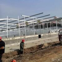 湖北猪舍焊接立柱加工厂 牧原猪场钢架供应商盈浩钢铁图片