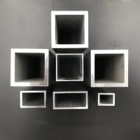 铝合金方管,四方管,铝方通,空心管,日字型扁管矩形管图片