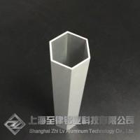六方管定制木纹转印加工铝合金六边形管材一上海至律铝业图片